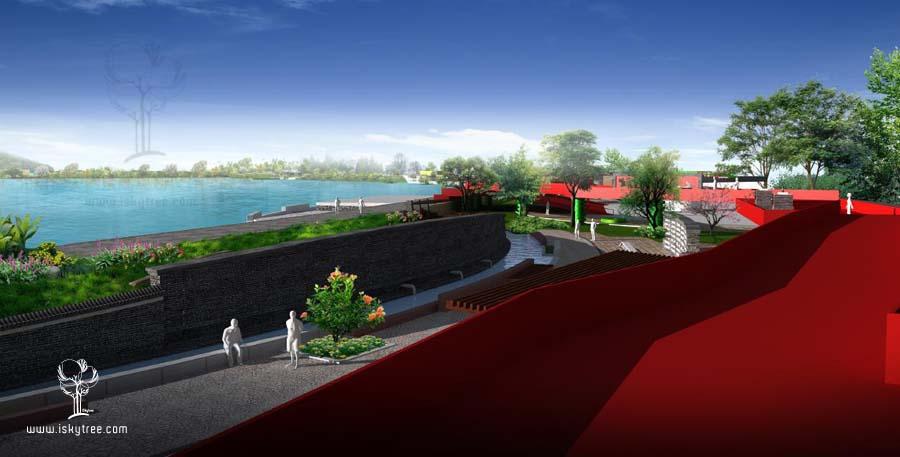 红色主题景观长廊设计