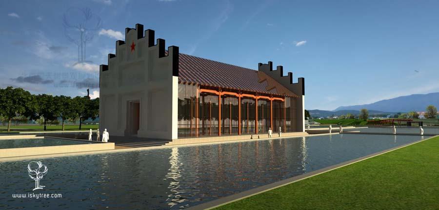 忠义祠堂建筑景观设计