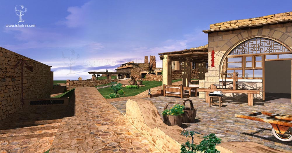 包子塔景区古村落改造设计