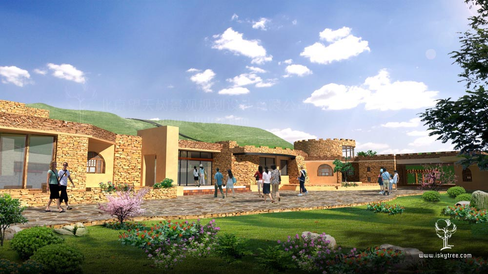 包子塔景区游客服务中心建筑景观设计