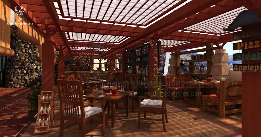 熊猫谷景区酒吧设计
