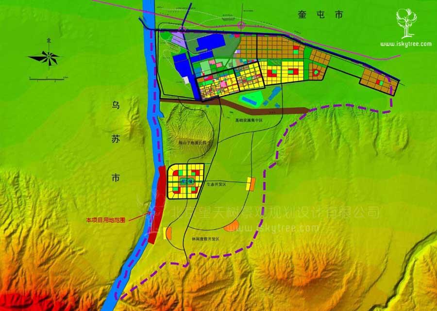 克拉玛依GIS地形分析图
