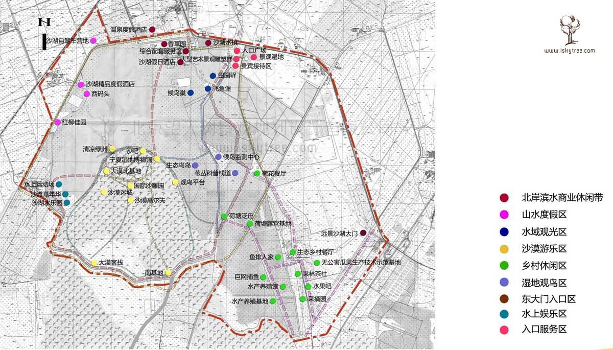宁夏沙湖景区重点项目布局图
