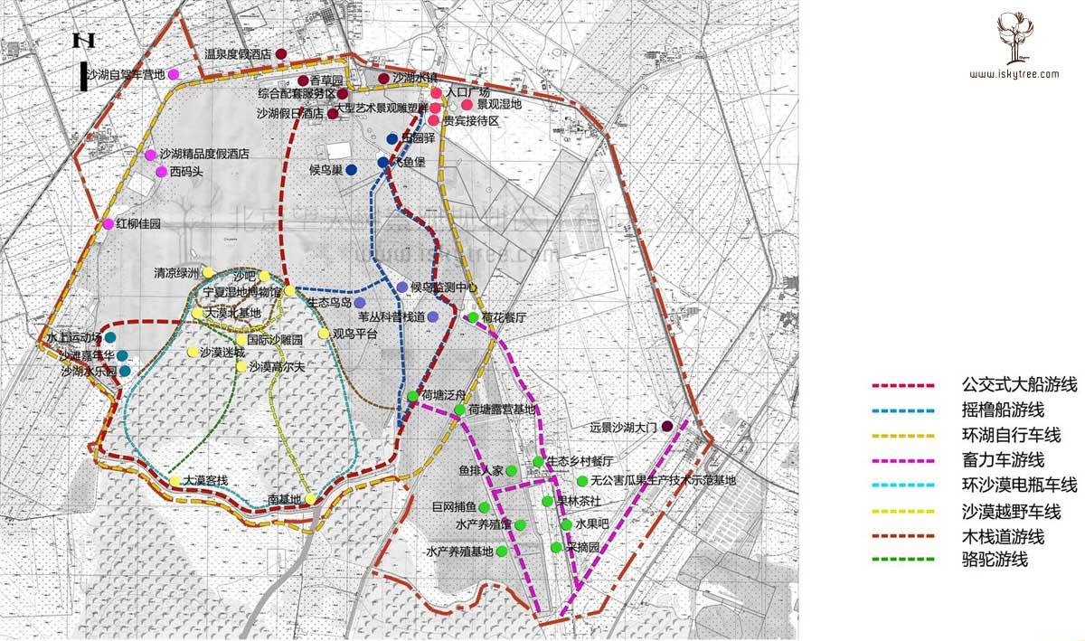 宁夏沙湖景区主题旅游线路规划