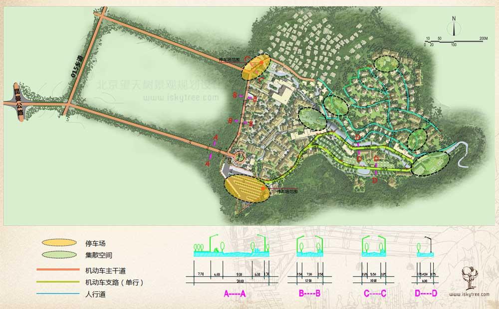 西双版纳热带雨林国家公园曼旦景区交通道路规划