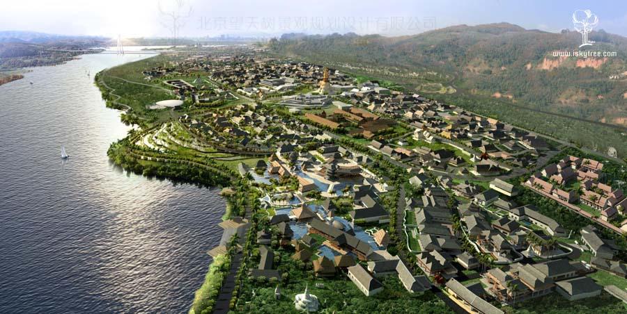 西双版纳告庄西双景景观与建筑设计鸟瞰图