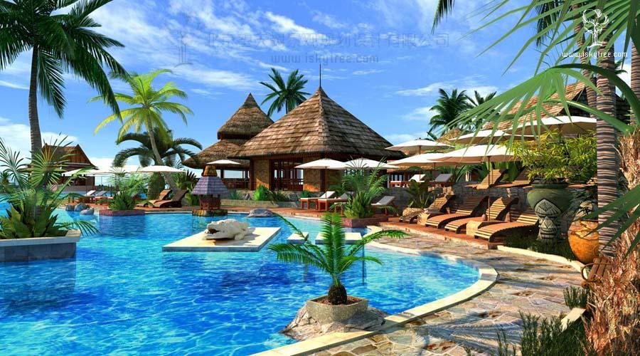 热带风情傣泰建筑景观设计