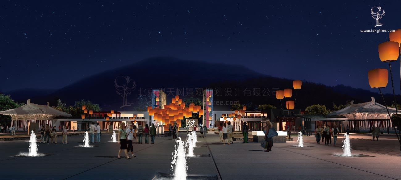 汉文化主题广场建筑景观设计