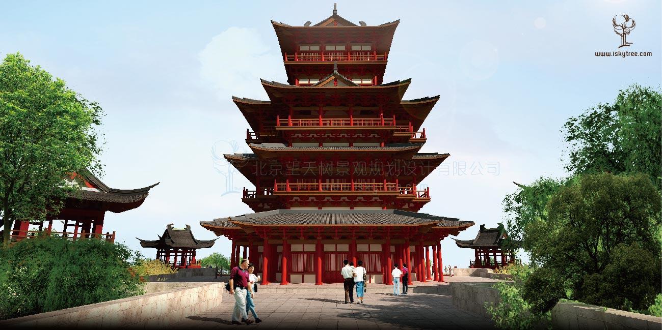 汉代风格建筑景观设计