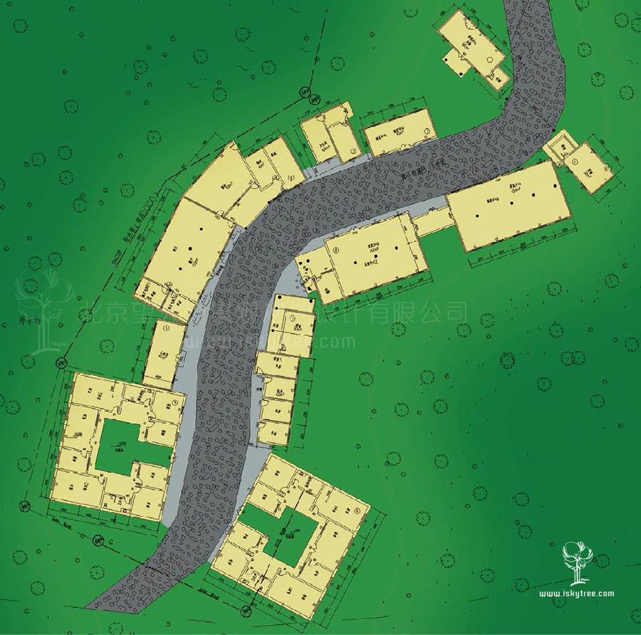 党项民俗街总体规划平面图