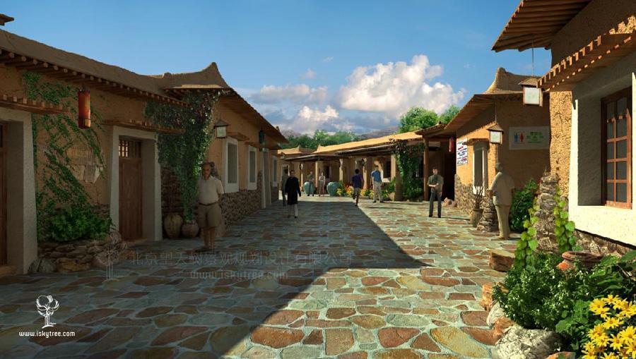 民俗文化街建筑景观设计