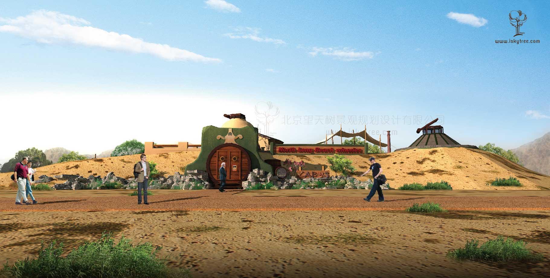 西部风情酒庄设计