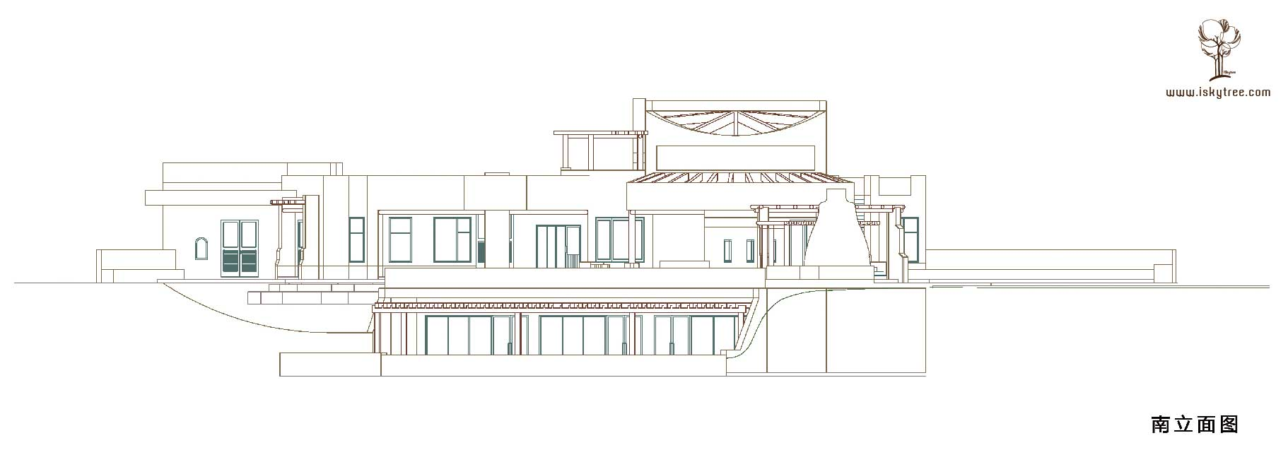 宁夏沙坡头北长滩酒庄设计结构图