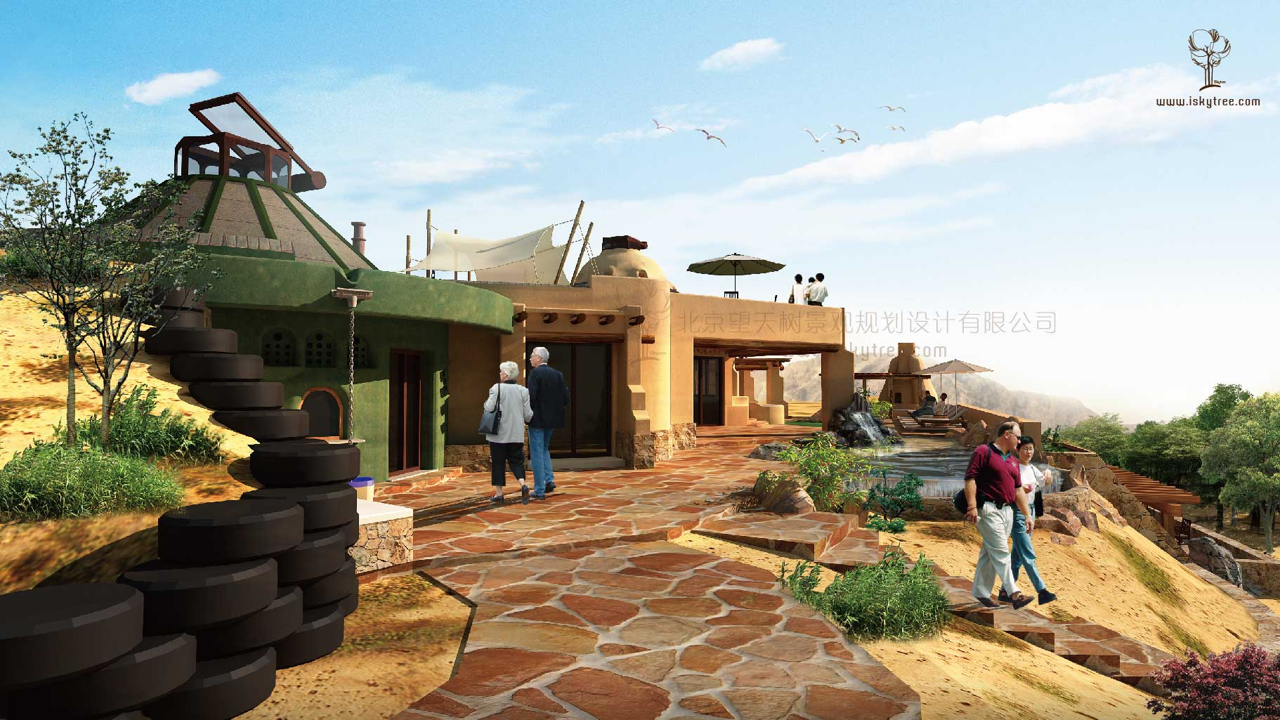 西部风情酒庄建筑景观设计