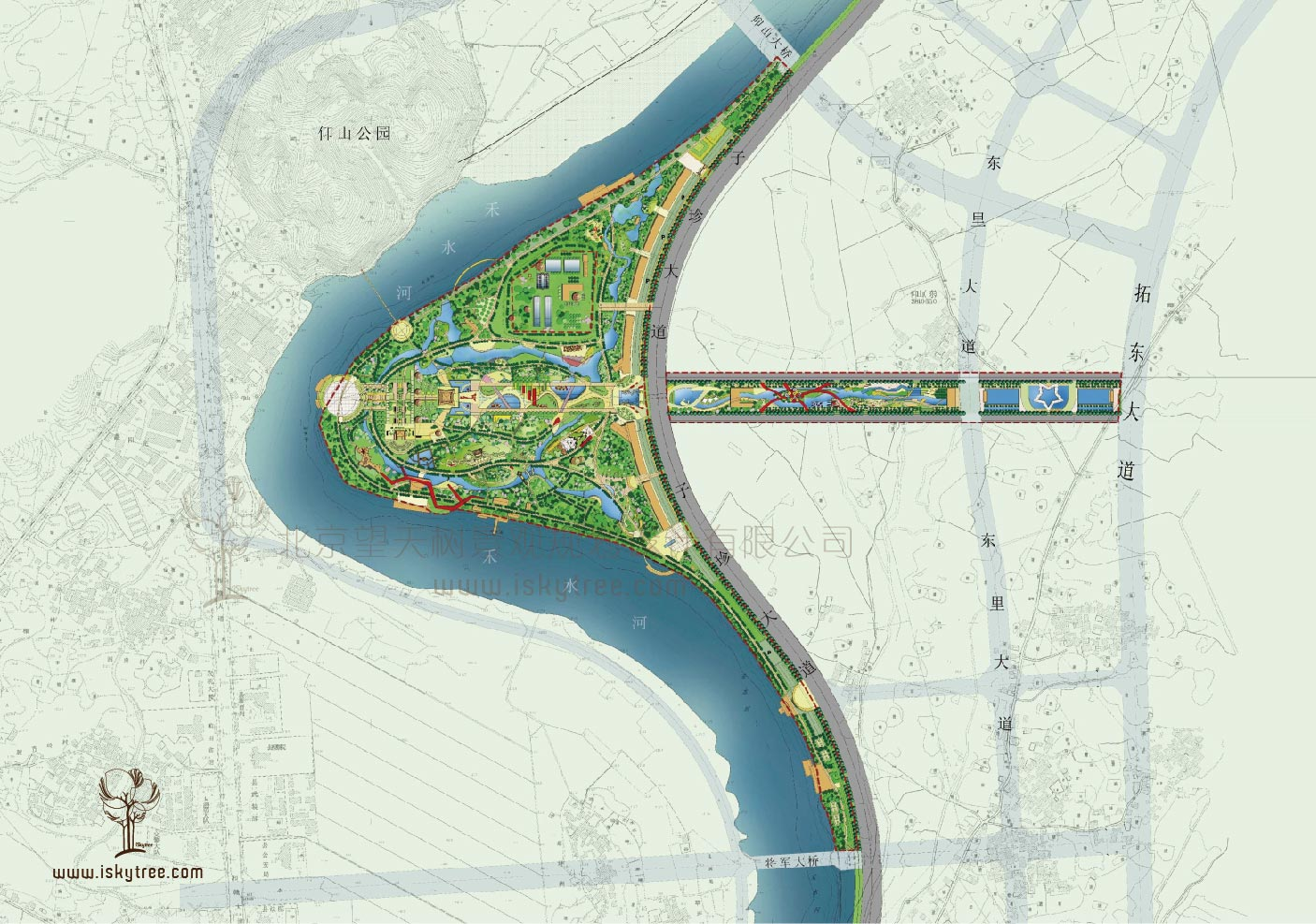永新县滨江主题公园规划总平面图