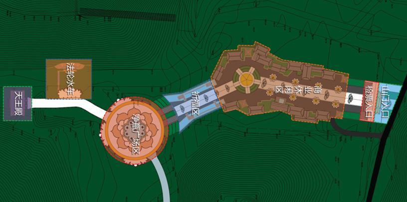 莲花广场设计