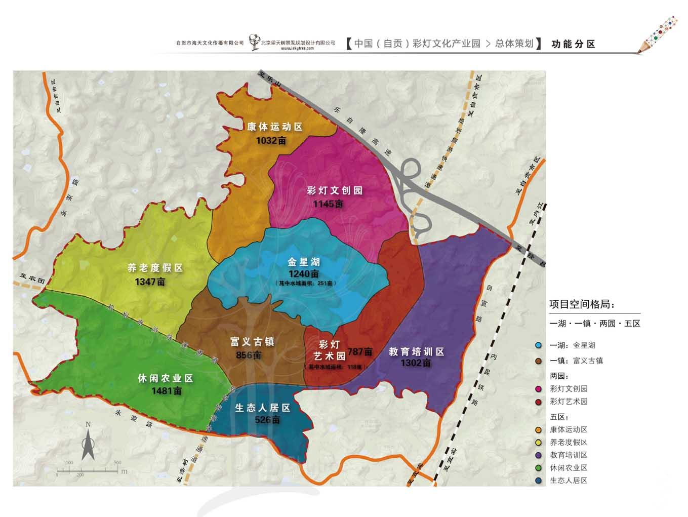 自贡彩灯文化产业园项目功能分区