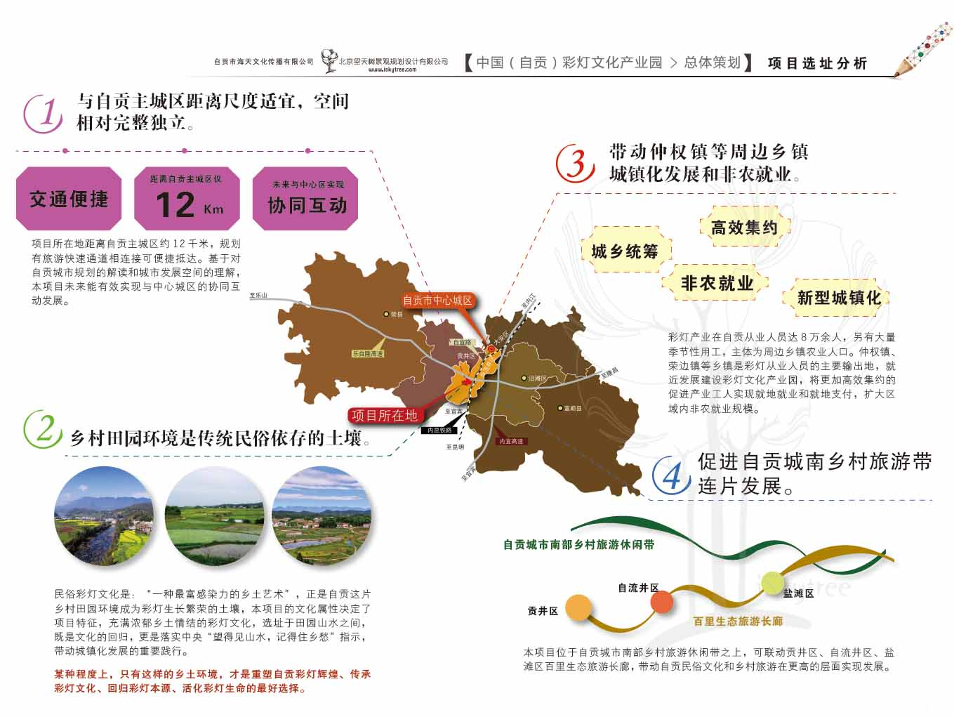 自贡彩灯文化产业园项目选址分析