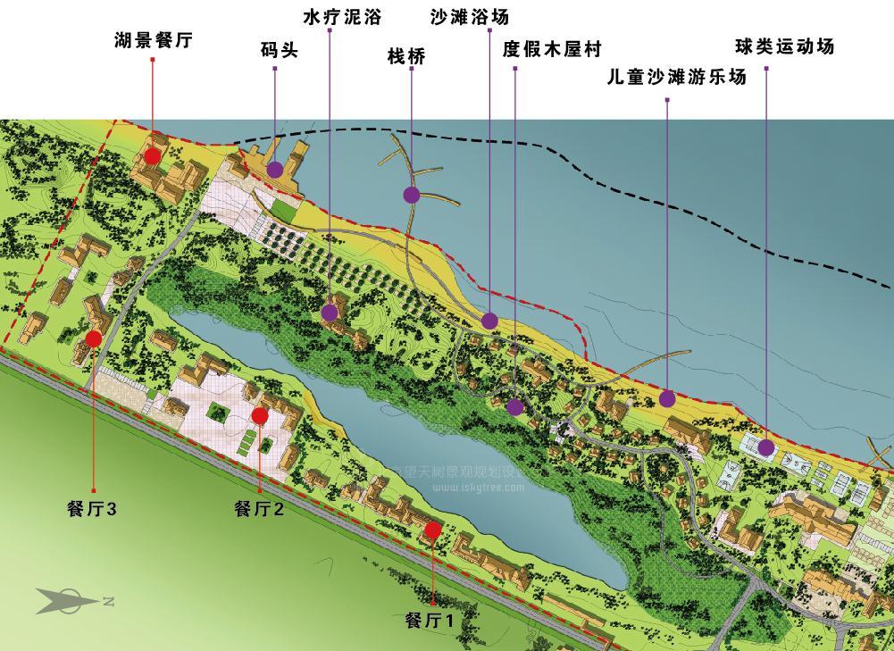湖滨康体休闲区规划