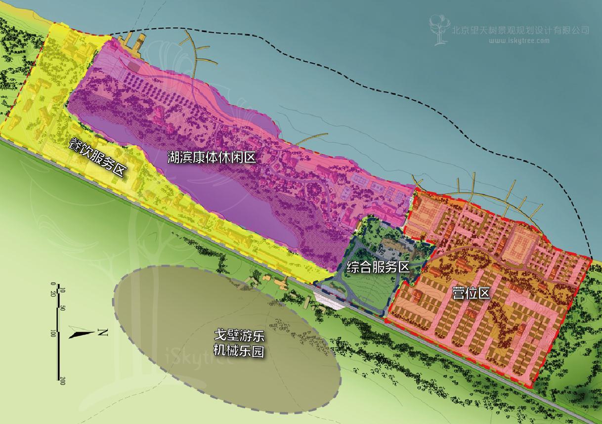 自驾车营地分区规划
