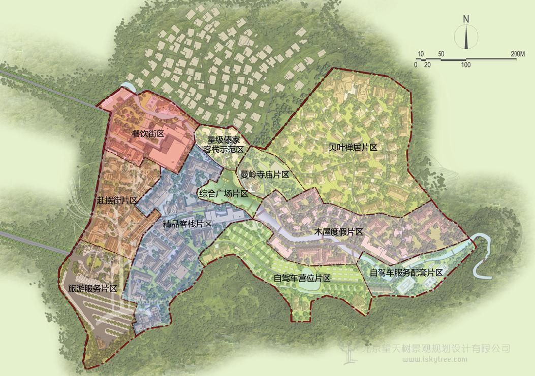 自驾车营地规划功能分区