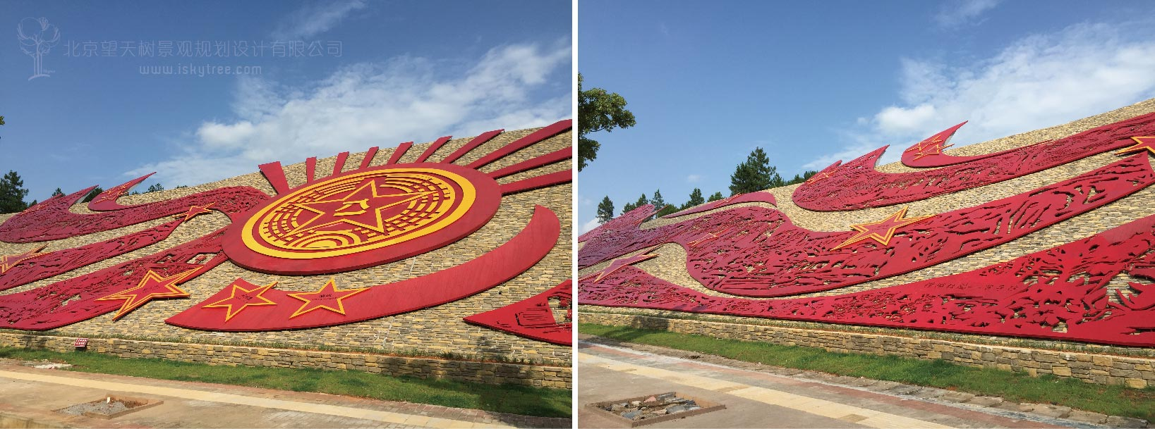 红色旅游壁画雕塑现场实景