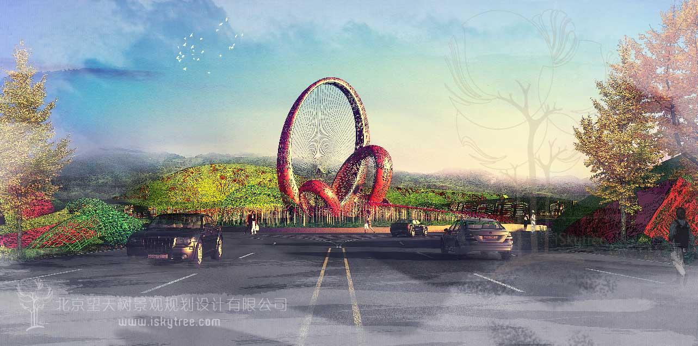高速公路环岛景观设计