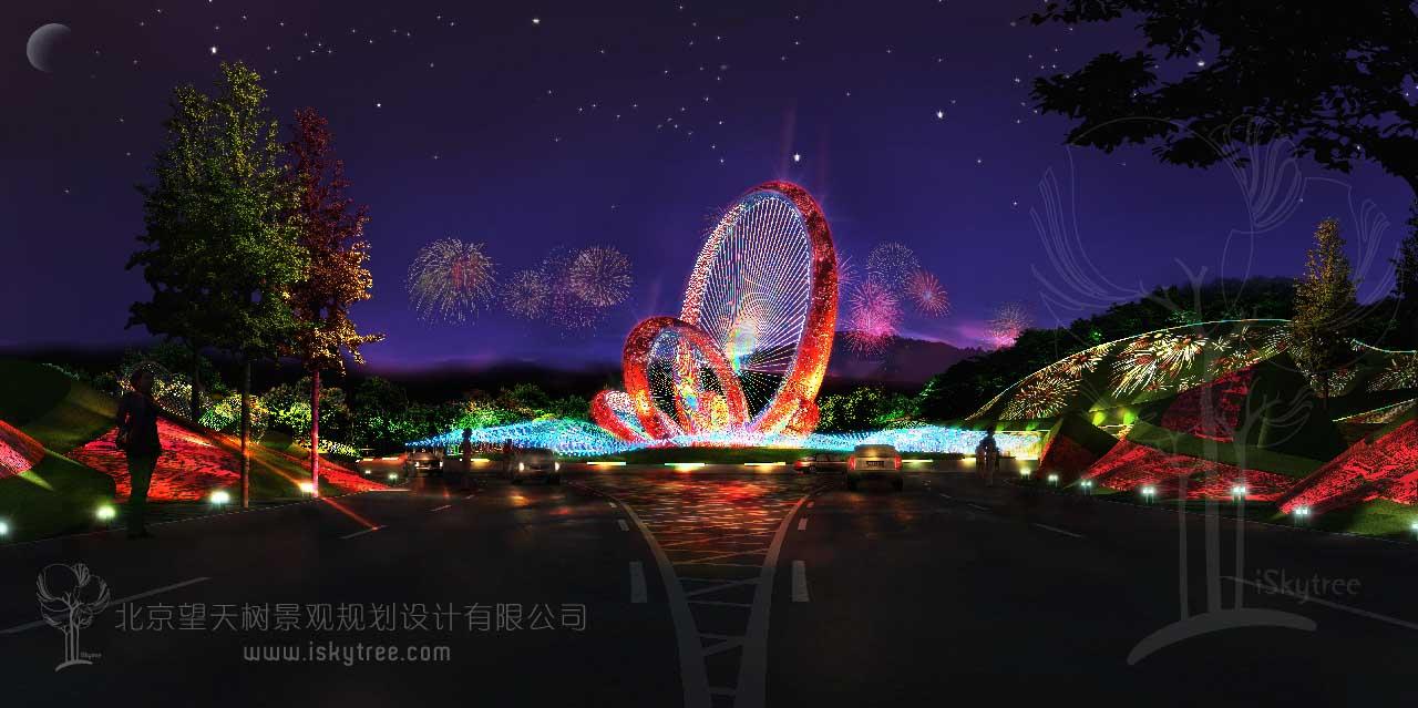 城市夜景灯光雕塑景观设计