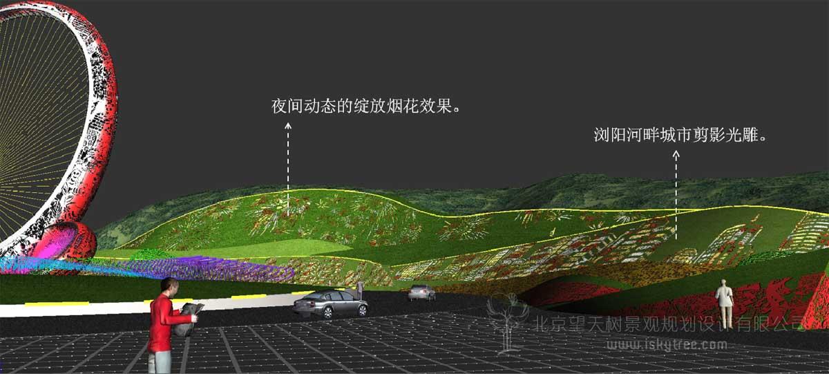 城市主题景观局部表现图