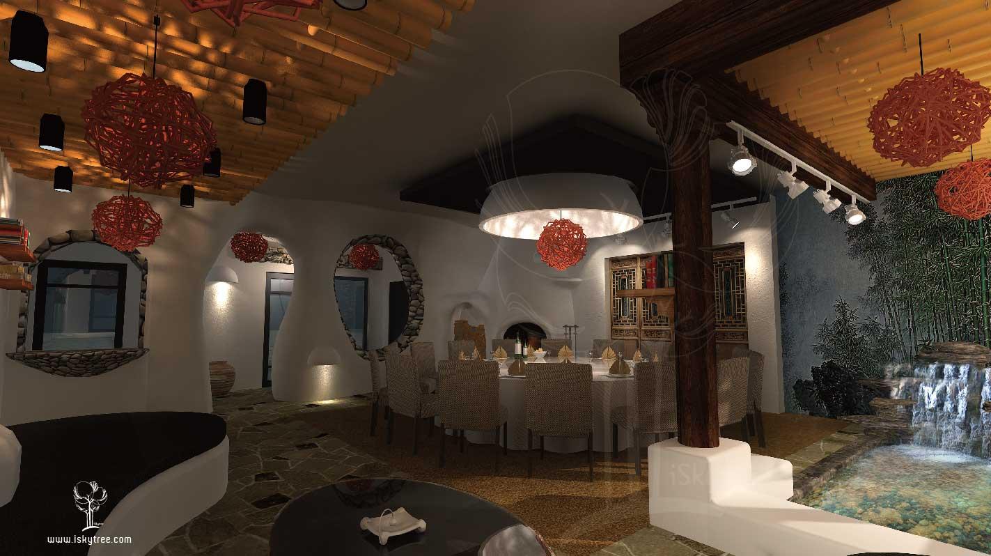熊猫山庄主题餐厅设计